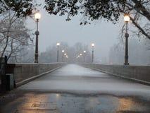Ein schneebedeckter Tag in Nord-Kalifornien Lizenzfreies Stockfoto