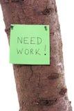 Ein Schrei für Hilfe auf einem Baumkabel Stockfoto