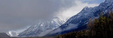 Ein schroffes Winter-Panorama Stockfoto