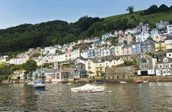 Ein Schuß der Dartmouth-Häuser, Devon, England Lizenzfreie Stockfotografie