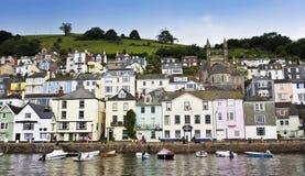 Ein Schuß der Dartmouth-Häuser, Devon, England Lizenzfreie Stockfotos
