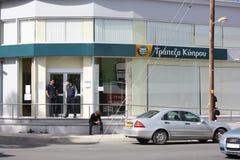 Geschossen von der Bank von Zypern Stockfotos