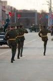 Ein Schutz der Ehre an einer Militärparade stockbild