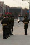Ein Schutz der Ehre an einer Militärparade stockfoto