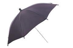 Ein schwarzer Regenschirm Stockfotografie