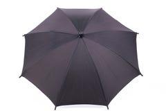 Ein schwarzer Regenschirm Stockfotos