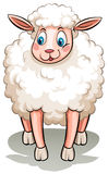 Ein schwarzes Schaf stock abbildung