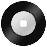 Ein schwarzes Vinyl lokalisiert auf Weiß Lizenzfreies Stockbild