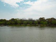Ein See am Shanghai-Blumenhafen Stockbild
