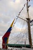 Ein Segelboot ` s Mast Lizenzfreies Stockfoto