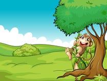 Ein sehr glücklicher Affe vektor abbildung