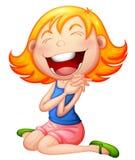 Ein sehr glückliches Kind stock abbildung
