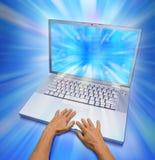 Ein sehr großer Laptop stockfoto