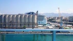 Ein sehr großes Schiff in Italien Stockfoto