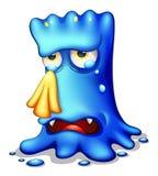 Ein sehr trauriges blaues Monster Lizenzfreie Stockfotografie