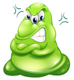 Ein sehr verärgertes grünes Monster Lizenzfreie Stockfotos