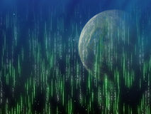 Ein Seitenschatten Erdplanet Stockbild