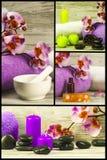Ein Set Abbildungen des Badekurortthemas Lizenzfreies Stockfoto