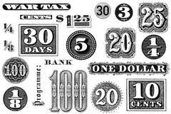 Ein Set alte grafische Elemente Lizenzfreie Stockfotos