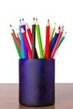 Ein Set Bleistifte der verschiedenen Farben Lizenzfreies Stockbild