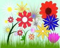 Ein Set Blumen Stockfotografie