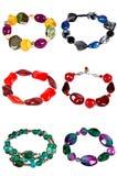 Ein Set braceletes Stockfoto