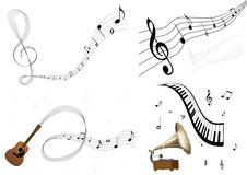 Ein Set einiger Musikabbildungen Stockfotos