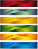 Ein Set Fahnen Lizenzfreie Stockbilder