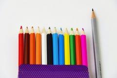 Ein Set farbige Bleistifte Lizenzfreie Stockbilder