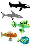 Ein Set Fische vektor abbildung
