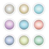 Ein Set glattes Web knöpft in den verschiedenen Farben Lizenzfreie Stockfotografie