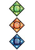 Ein Set Ikonen auf dem Multimediaspieler Lizenzfreies Stockbild