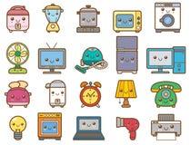 Ein Set Ikonen der Küchegeräte für Ihre Auslegung Lizenzfreie Stockbilder