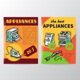 Ein Set Ikonen der Küchegeräte für Ihre Auslegung Stockfotografie