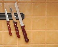 Ein Set Messer hängen Lizenzfreies Stockfoto