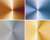 Ein Set Metallplatten Stockfoto
