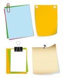 Ein Set Papier Stockbilder