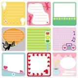 Ein Set Pastellmarken/Kennsätze Lizenzfreie Stockfotos