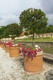 Ein Set Potenziometer mit den Anlagen gepflanzt im Schloss GA Lizenzfreie Stockfotos