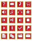 Ein Set Tasten mit Symbolen lizenzfreie abbildung