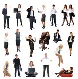 Ein Set verschiedene Geschäftsleute Stockfotografie