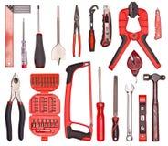 Ein Set vieler verschiedenen Hilfsmittel Stockfoto