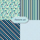 Ein Set von vier nahtlosen Mustern Stockfoto