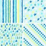 Ein Set von vier nahtlosen Mustern Stockbild
