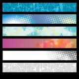 Ein Set Web-Fahnen Stockfotos