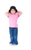 Ein shoeless kleines Mädchen Stockbilder