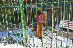 Ein Sikhpriester protestiert für seinen Lizenzfreie Stockbilder