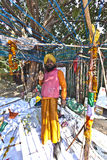 Ein Sikhpriester protestiert für seinen Stockbilder