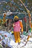 Ein Sikhpriester protestiert für seinen Lizenzfreie Stockfotos