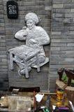 Ein Silberschmiedshop in den breiten Gassen in Chengdu stockfotos